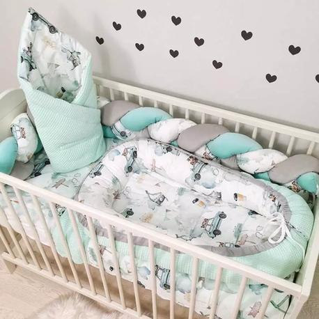 Pościel do łóżeczka dla niemowlaka Chłopiec Auta