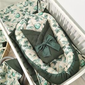 Kokon niemowlęcy butelkowa zieleń .jpg