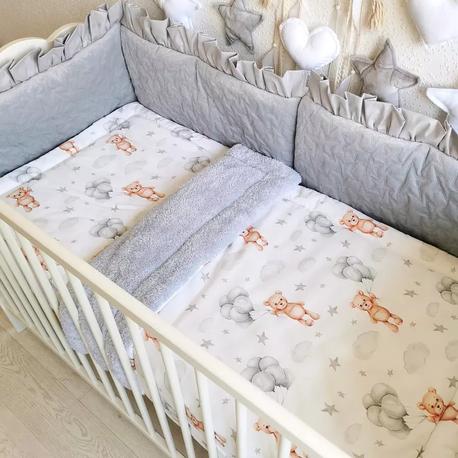 Pościel dla niemowląt do łóżeczka 120x60 Misie