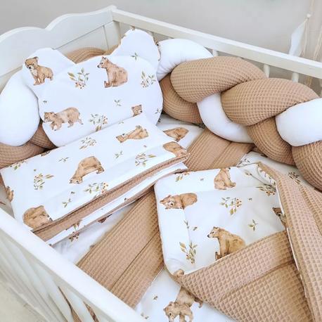 Komplet do łóżeczka dla niemowlaka z WARKOCZEM