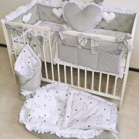 Pościel dla niemowlaka do łóżeczka 120x60 Króliki