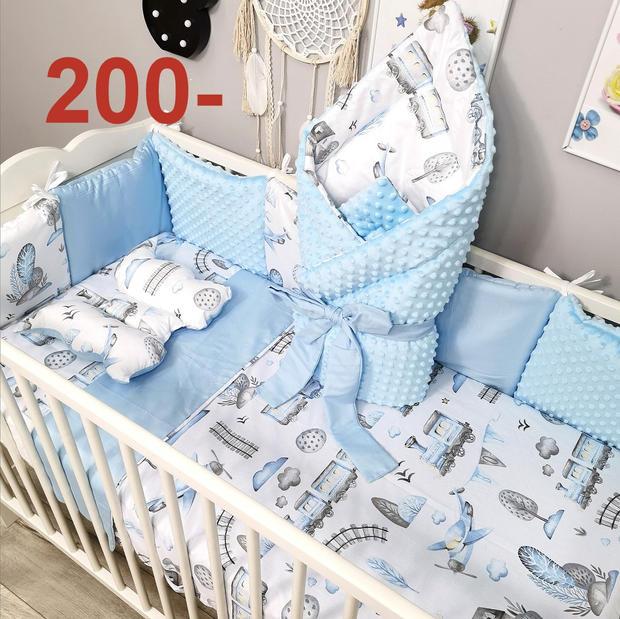 Komplet poszewek do łózeczka niemowlęcego