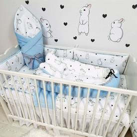 Zestaw do łóżeczka dla niemowlaka Kroliki