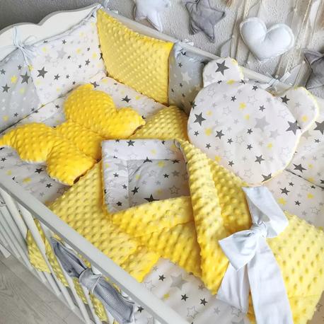 Pościel dla niemowlaka do łóżeczka Gwiazdy 12 el.