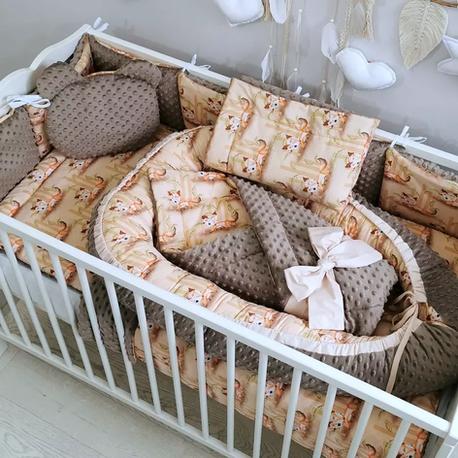 Komplet do łóżeczka dla niemowlaka Liski 12 el.