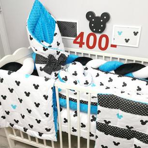Komplet do łóżeczka niemowlęcego dla chłopca Myszka