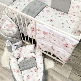 13 el zestaw do łóżeczka Flamingi