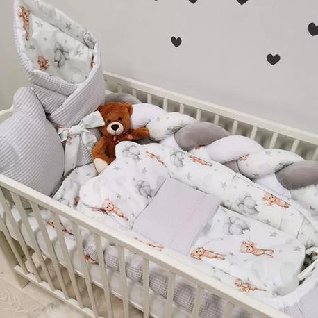 Komplet pościeli do łóżeczka dla dziecka Misie