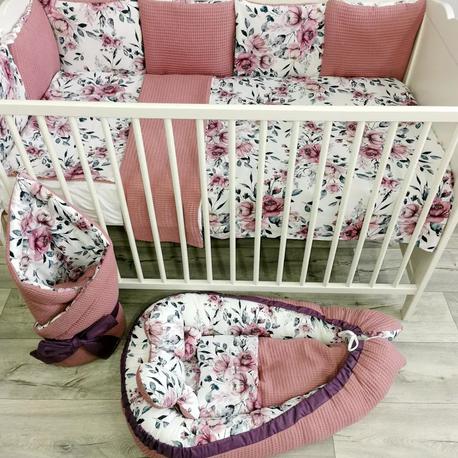 Zestaw pościeli do łóżeczka z ochraniaczem dla dziecka