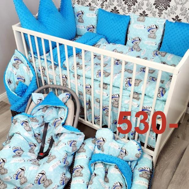 zestaw poscieli niemowlecej do łózeczka