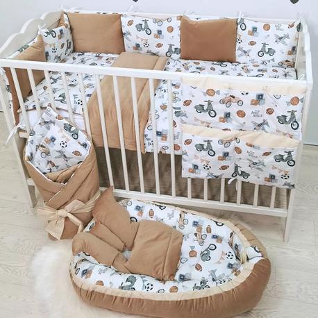 Pościel dziecięca do łóżeczka Chłopiec 12 el.