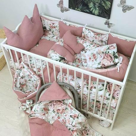 14el. zestaw do łóżeczka z koroną