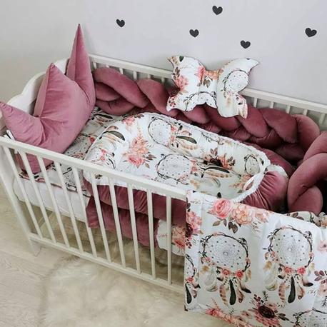 Komplet pościeli do łóżeczka dla dziecka VELVET gładki