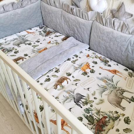 Pościel dla niemowląt do łóżeczka 120x60 Safari