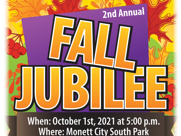 2nd Annual Fall Jubilee, Oct 1st