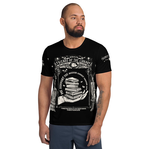 Men's Friends of the Library Fundraising Athletic T-shirt BLACK $500