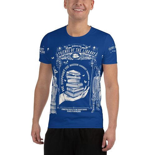 Men's Friends of the Library Fundraising Athletic T-shirt copy $100