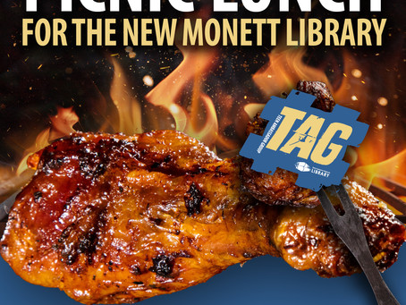 BBQ Chicken Picnic Lunch Benefiting the New Monett Library