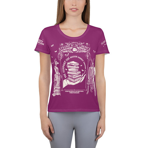 Women's Friends of the Library Fundraising Athletic T-shirt copy $100