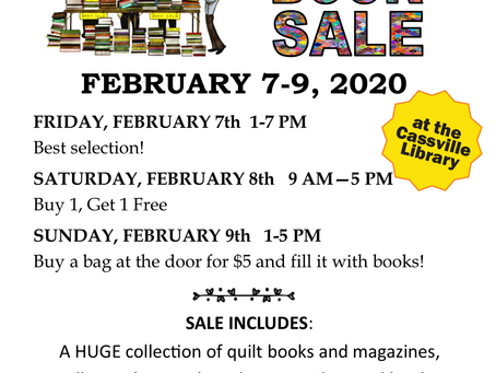 Cassville Library Book Sale Feb. 7th-9th