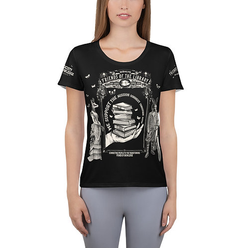Women's Friends of the Library Fundraising Athletic T-shirt BLACK $500