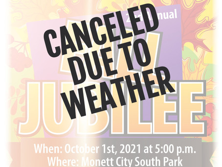 CANCELED DUE TO WEATHER!!!!!! Fall Jubilee, Oct 1st