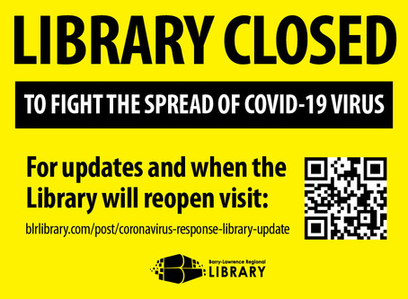Libraries Closed To Help Stop the Spread of Covid-19