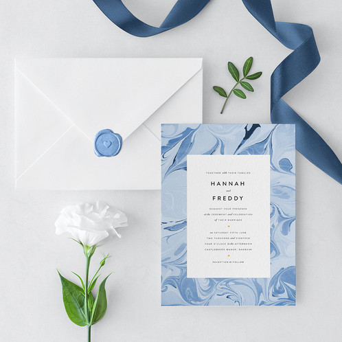 Something blue wedding invitation the i do paper co please note this item is a deposit and will be deducted from your final payment the something blue wedding invitation stopboris