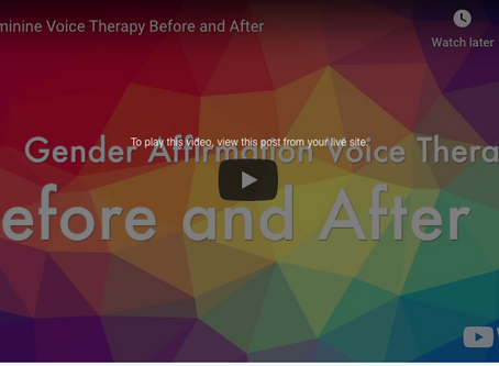Feminine Voice Before & After