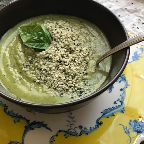 Spring Mint Pea Soup