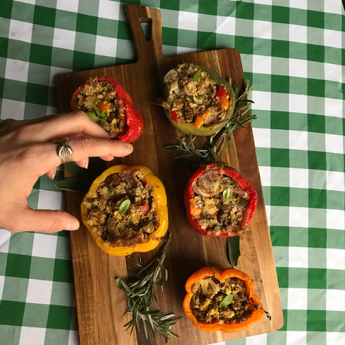 Stuffed Thanksgiving Peppers