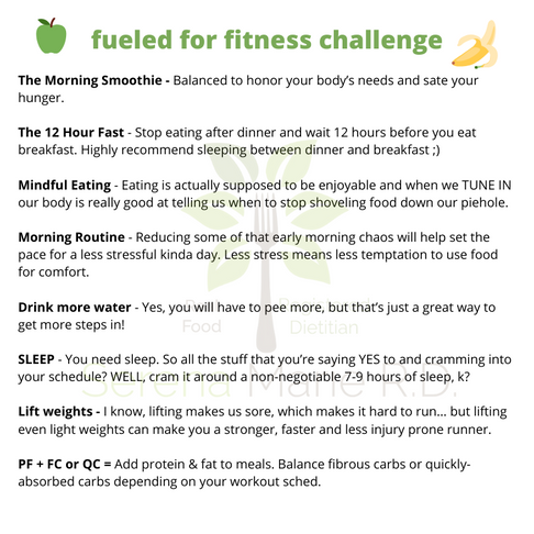 FREE Two Week Challenge: 8 Simple Habits to Fuel for Fitness