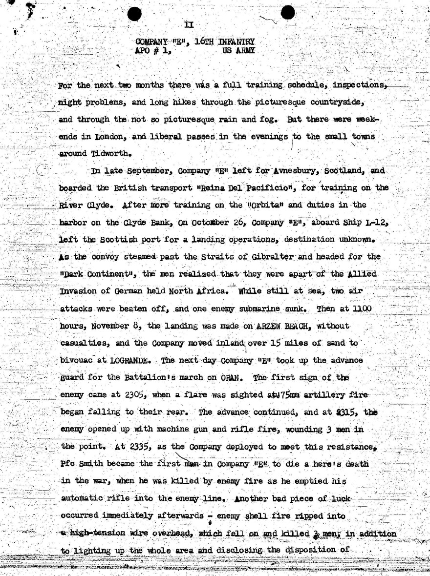 E Company, 16th Infantry - History-page-