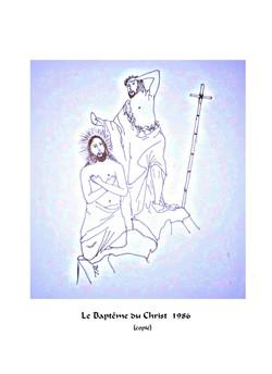 bapteme du Christ Jésus