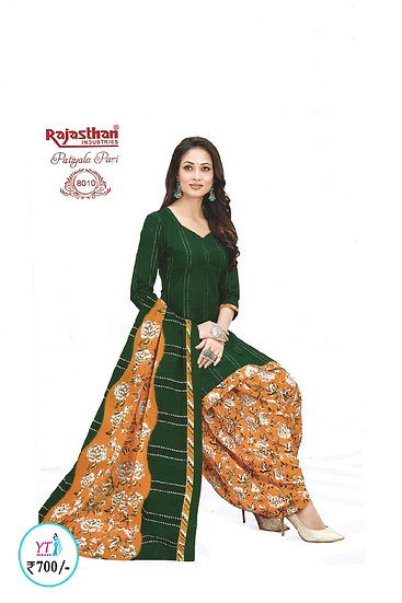 Rajasthan Cotton Chudithar - Green YT