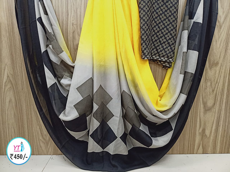 Georgette Yellow - Fancy collection