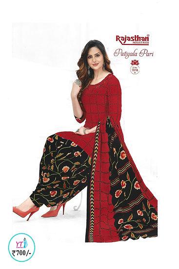 Rajasthan Cotton Chudithar - Red Black YT
