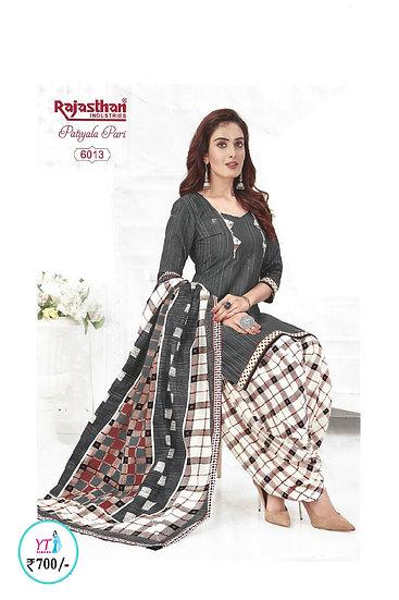 Rajasthan Cotton Chudithar - Grey White YT