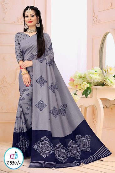 YT Fancy Vichithra - Pigeon Blue