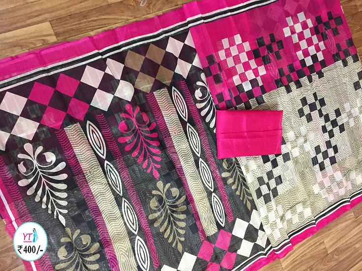 YT Bhagalpuri Printed - Pink
