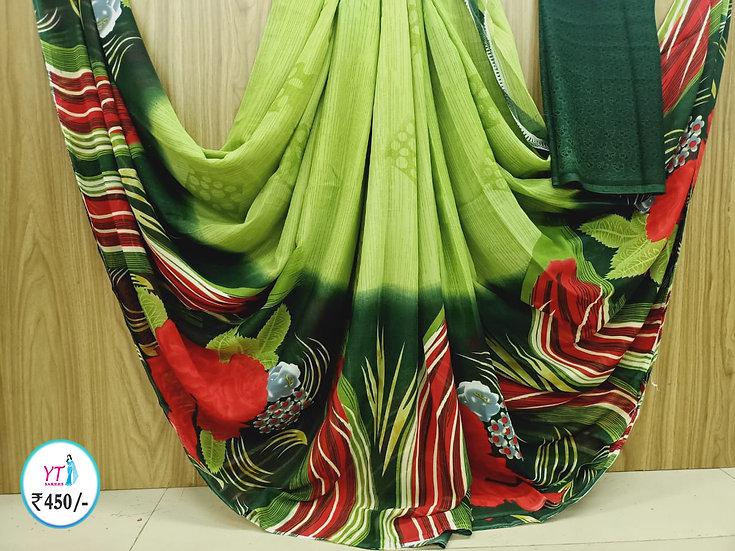 Georgette Green - Fancy sarees