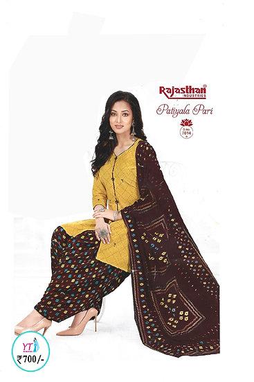 Rajasthan Cotton Chudithar - Yellow Brown YT