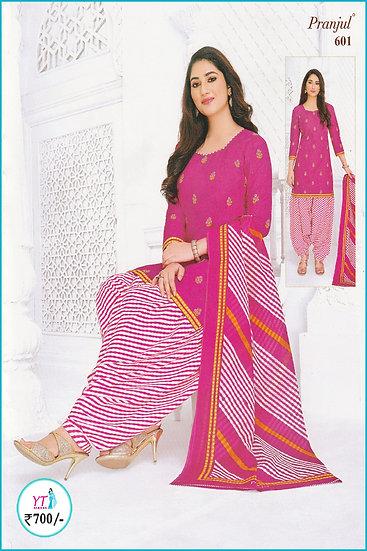 Pranjul Cotton Chudithar - Pink D YT