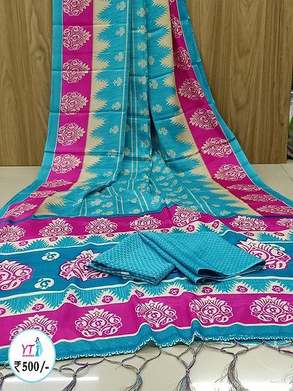 YT Soft Silk - Blue Contrast
