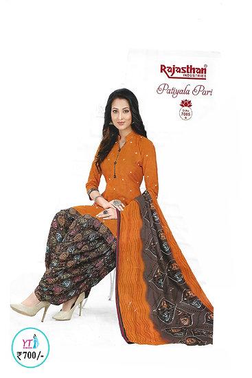 Rajasthan Cotton Chudithar - Dark Orange YT