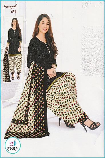 Pranjul Cotton Chudithar - Black Sandal YT