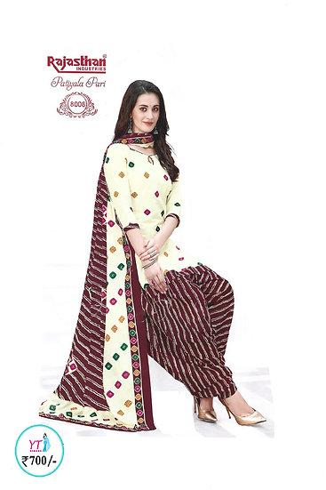 Rajasthan Cotton Chudithar - Sandal Brown YT