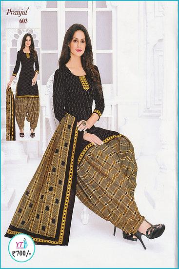 Pranjul Cotton Chudithar - Brown D YT
