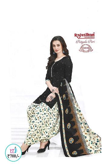 Rajasthan Cotton Chudithar - Black White YT