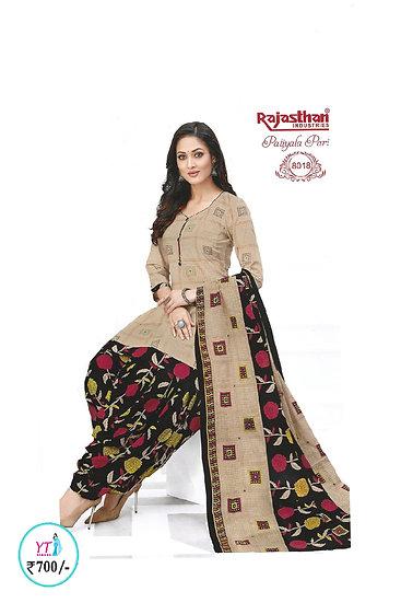 Rajasthan Cotton Chudithar - Light Brown Black YT